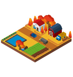 3d design for houses and farmland vector