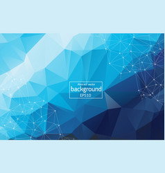 abstract blue geometric polygonal background vector image