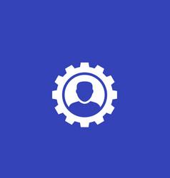 Account edit profile icon vector