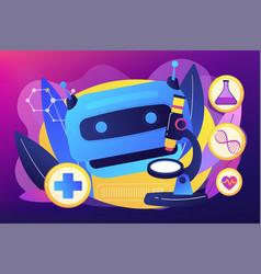 ai use in healthcare concept vector image