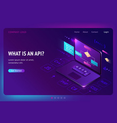 api application programming interface isometric vector image
