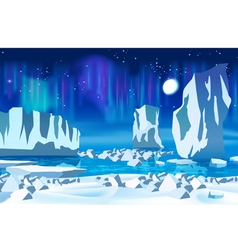 Arctic ice at night vector image
