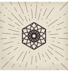 Asian lotos symbol vector