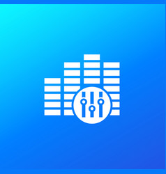 Audio editor icon for apps and web vector
