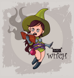 Baby witch vector