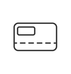bank card credit or debit finance money icon thick vector image