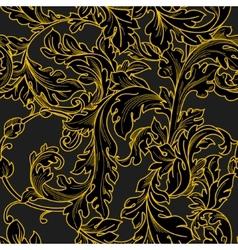 Baroque floral pattern vector