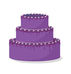 beautiful cake with blackberries vector image