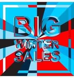Big ice sale poster with BIG WINTER SALE text vector image