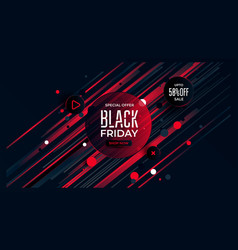 black friday special offer black and red color vector image