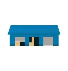 Blue Storehouse Building vector image