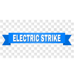 Blue stripe with electric strike title vector