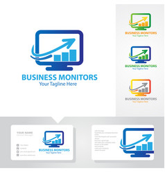 Business monitoring logo designs vector