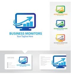 business monitoring logo designs vector image