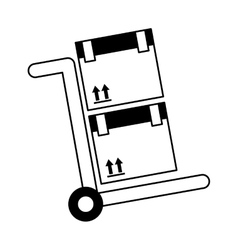 cart box packing icon vector image