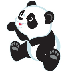 cartoon panda vector image