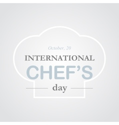 Chef day vector image