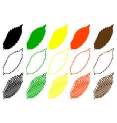 Chestnut leaf color set vector