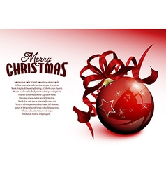 Christmas red ball vector image