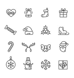christmas theme set of icons vector image
