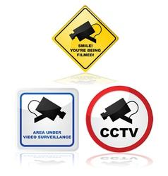 Closed circuit TV vector image