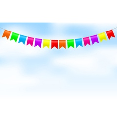colorful bunting vector image