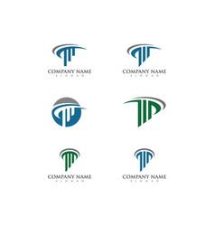 column icon logo template vector image