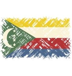 Comoros grunge flag vector