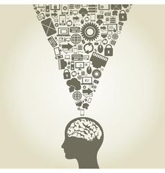 Computer a brain vector