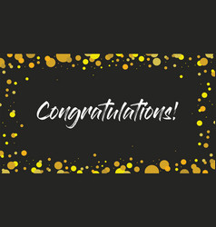 Congrats congratulations banner handwritten vector