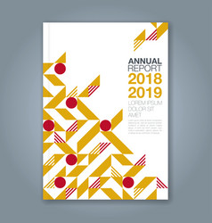 cover annual report 1093 vector image