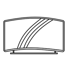 Curved TV icon outline style vector image