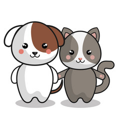 cute animals kawaii style vector image