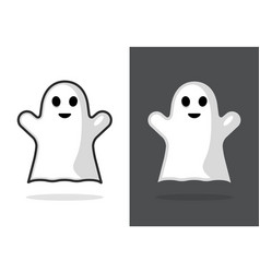 cute ghost icon halloween boo vector image