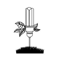 Energy-saving light bulbs plant icon vector