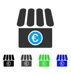 Euro shop flat icon vector