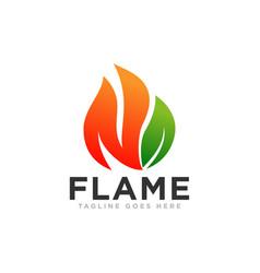 Flame or fire logo design vector