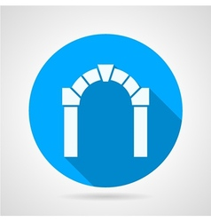 Flat icon for architecture vector image