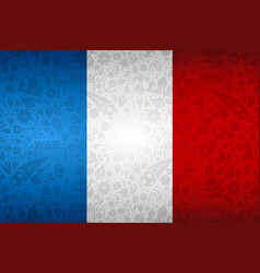 France flag background for russian soccer event vector