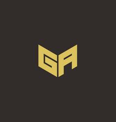 Ga logo letter initial logo designs template vector