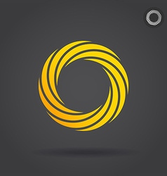 Gold segmented circle vector