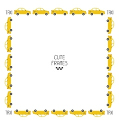 graphic taxi car flat design vector image
