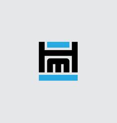 h and m logo hm - monogram or logotype design vector image