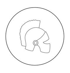 Helmet icon in outline style isolated on white vector