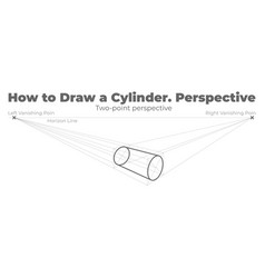 how to draw a cylinder vector image
