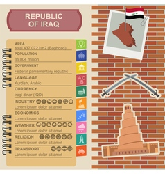 Iraq infographics statistical data sights vector