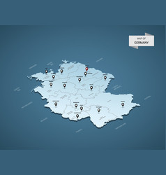 isometric 3d germany map concept vector image