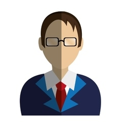 lawyer character avatar icon vector image