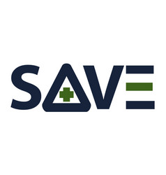 letter save with cross vector image