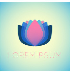 lotus flower yoga theme vector image